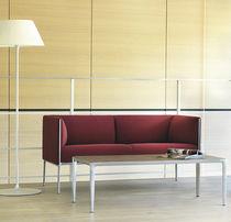 Canapé contemporain / en tissu / en cuir / en aluminium