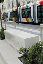banc public contemporain en b&eacute;ton BUHP Azuly
