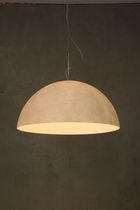 lampe suspension contemporaine MEZZA LUNA 1 NEBULITE WHITE in-es artdesign