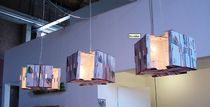 lampe suspension contemporaine en carton récupéré BOXELIER by David Graas DAVIS GRAAS