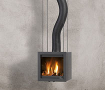 po&ecirc;le &agrave; bois contemporain mural BORA FLEX Platonic Fireplace