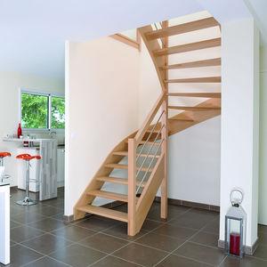 Escalier marche en bois - Tous les fabricants de l\'architecture et ...