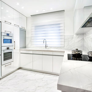 panneau d coratif composite mural pour agencement int rieur aspect marbre estatuario e01. Black Bedroom Furniture Sets. Home Design Ideas