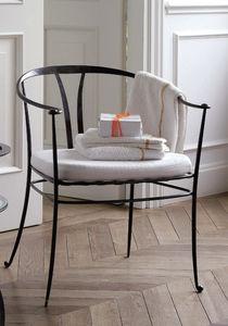 chaise classique avec coussin amovible en tissu en fer forg - Chaise Fer Forge