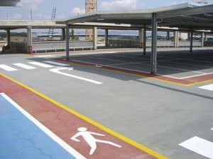 Cool Revtement De Sol En Polyurthane Pour Parking Aspect Bton Pour Lu  Extrieur With Revetement Parking Exterieur Pas Cher