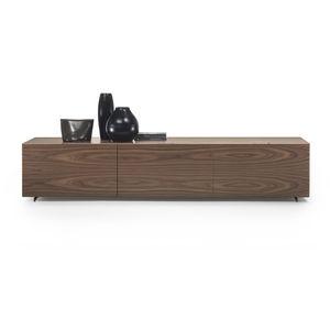 meuble de tlvision contemporain en bois en verre en aluminium