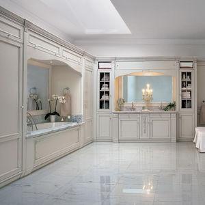 salle de bain classique en bois laqu en marbre - Salle De Bain Classique