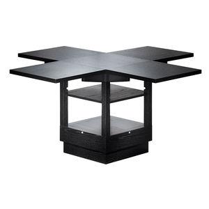 table design bauhaus en frne rallonge hauteur rglable - Table Reglable En Hauteur Avec Rallonge