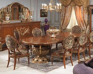 Table De Style Louis XVI En Bois Ovale