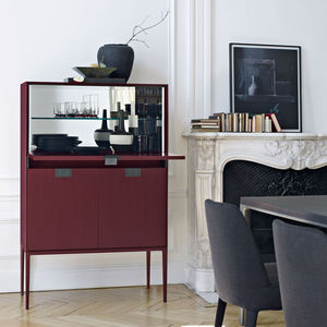 meuble bar contemporain en bois par antonio citterio
