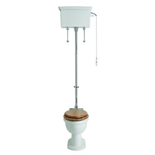 toilettes à poser / en céramique / avec chasse d'eau en hauteur