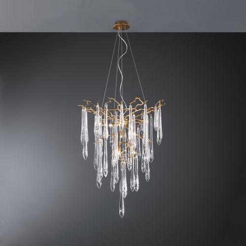 Lustre classique / en verre / en bronze / halogène CT3259/8 Serip Organic Lighting