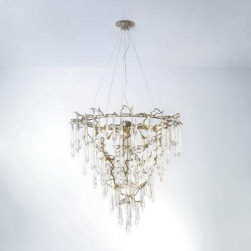 Lustre classique / en verre / en bronze / halogène CT3272/19 Serip Organic Lighting