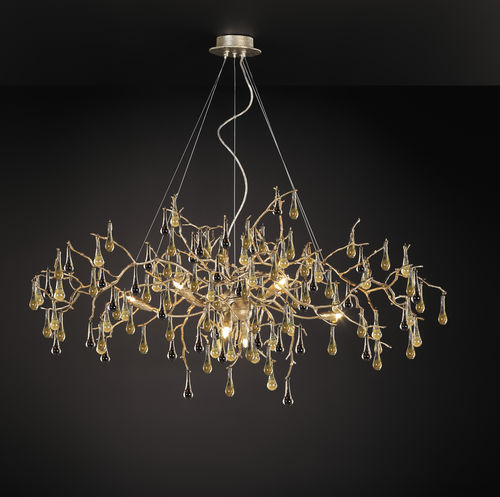 Lustre classique / en verre / en bronze / à incandescence BIJOUT CT3268/8 Serip Organic Lighting