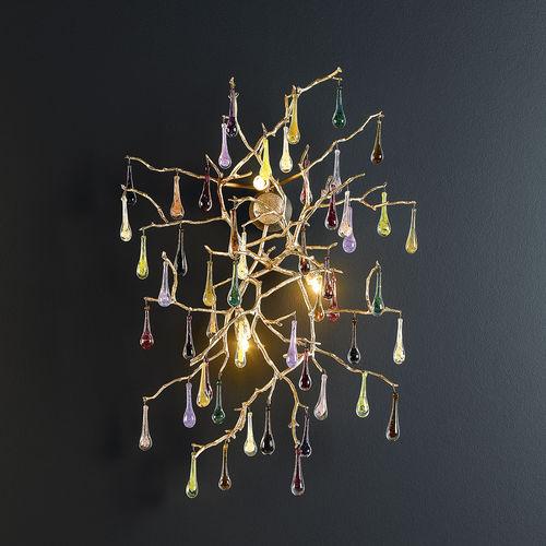 Applique murale classique / en bronze / en verre / halogène BIJOUT : AP1421/3 Serip Organic Lighting