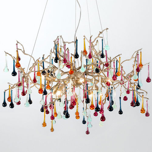 Lustre classique / en verre / en bronze / à incandescence BIJOUT : CT3257/8 Serip Organic Lighting