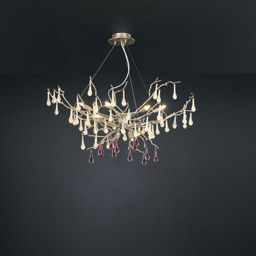 lustre classique / en verre / en bronze / halogène