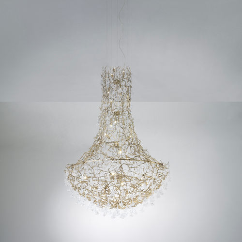 Lustre design original / en verre / en métal / à LED CORAL : CT3379/34 Serip Organic Lighting