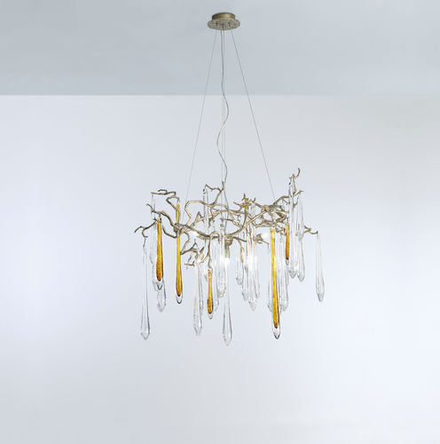 Lampe suspension / contemporaine / en métal / en verre AQUA : CT3260/6 Serip Organic Lighting