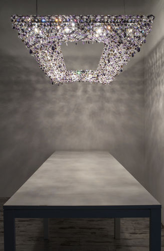 Lustre contemporain / en cristal / fait main KOI Manooi