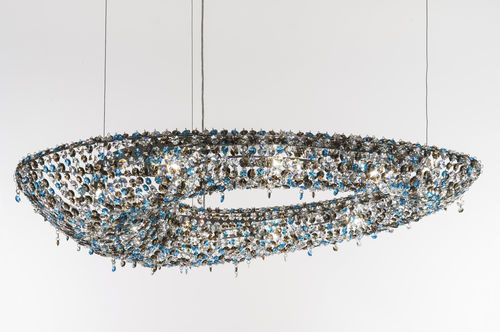 Lustre contemporain / en cristal / fait main POLARIS Manooi