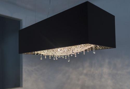 lustre contemporain / en cristal / en chêne / halogène