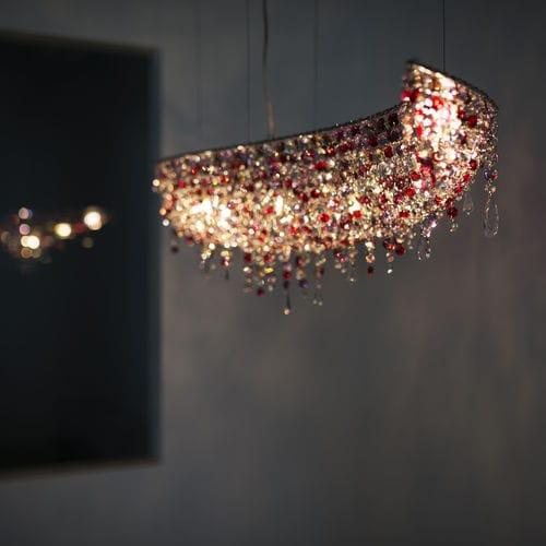 lustre contemporain / en cristal / fait main