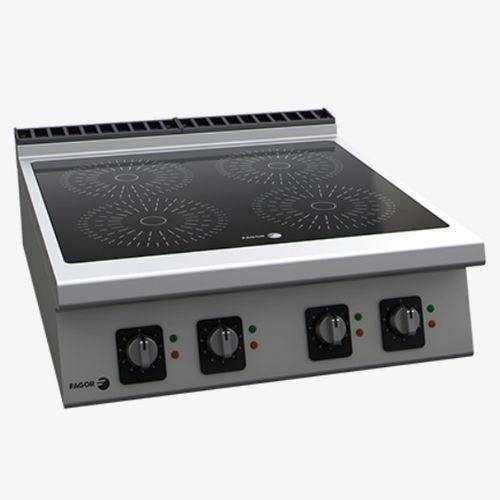 table de cuisson électrique / à induction / en inox
