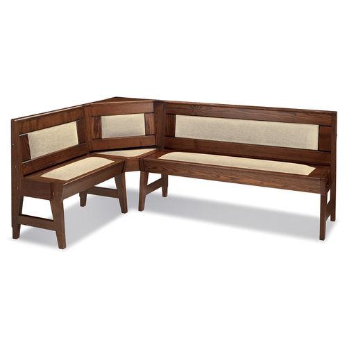 banc contemporain / en bois / avec dossier