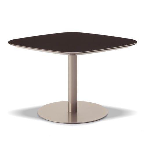 table contemporaine / en bois / en métal / en stratifié