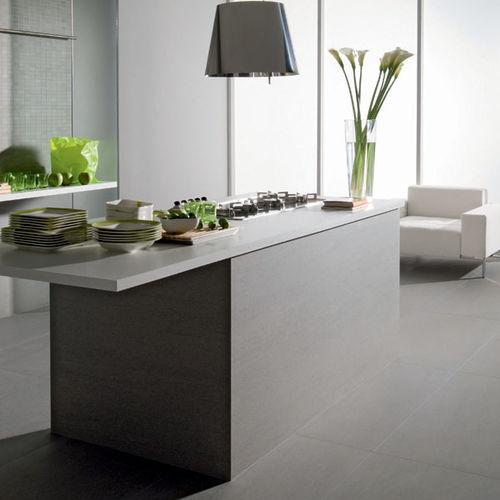 Carrelage de cuisine / pour sol / en grès cérame / uni SLIMTECH BASALTINA STONE PROJECT : SABBIATA LEA CERAMICHE