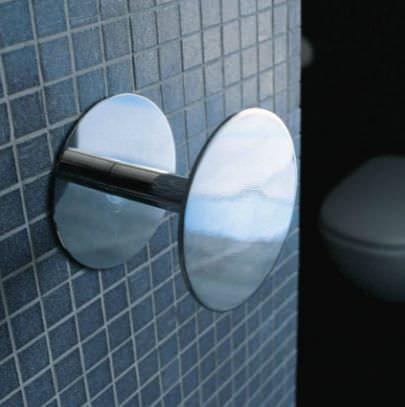 Patère contemporaine / en laiton / en métal chromé / quadruple HOOP: HPSG by Jeremy King & Riccardo Roselli FLAMINIA