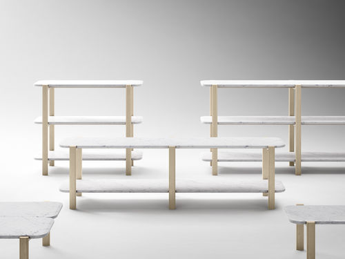 Étagère basse / contemporaine / en bois massif / en marbre ALAKA by Sylvain Willenz RETEGUI