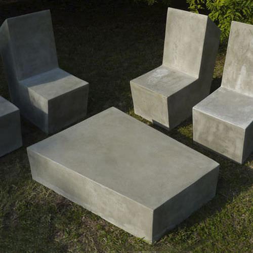 Table basse contemporaine / en ciment / d'extérieur / de jardin CUT.5 LOVECEMENT