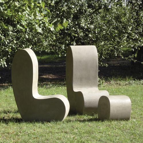 Chaise contemporaine / en ciment / de jardin LAND.3 LOVECEMENT