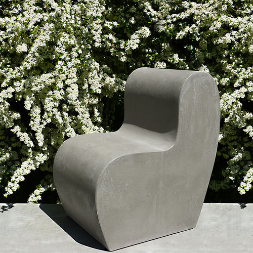 Chaise contemporaine / en ciment / de jardin LAND.1 LOVECEMENT