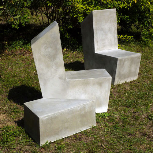 Chaise de jardin contemporaine / en ciment CUT.2 LOVECEMENT