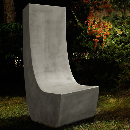 chaise de jardin contemporaine / en ciment