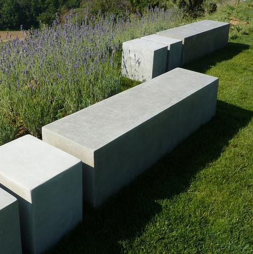 Banc de jardin / contemporain / en béton BASIC.4 LOVECEMENT