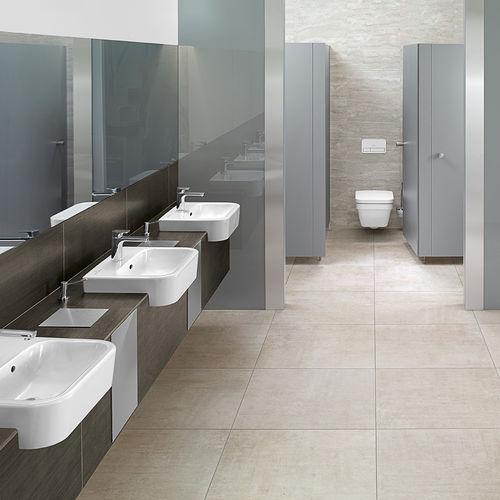 vasque semi-encastrée / rectangulaire / en céramique / contemporaine