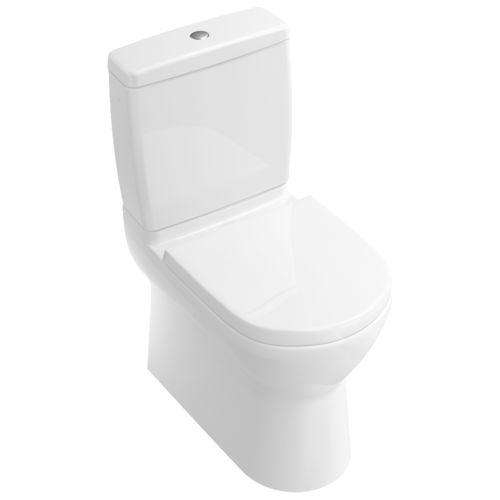 WC à poser / monobloc / en porcelaine / avec bouton de chasse d'eau