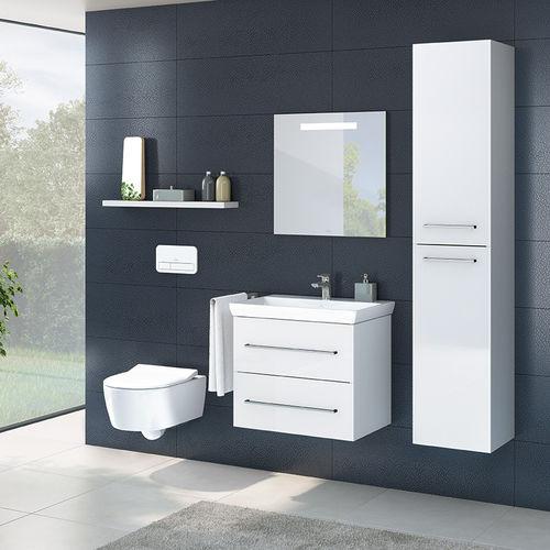 salle de bain contemporaine / en céramique / en verre