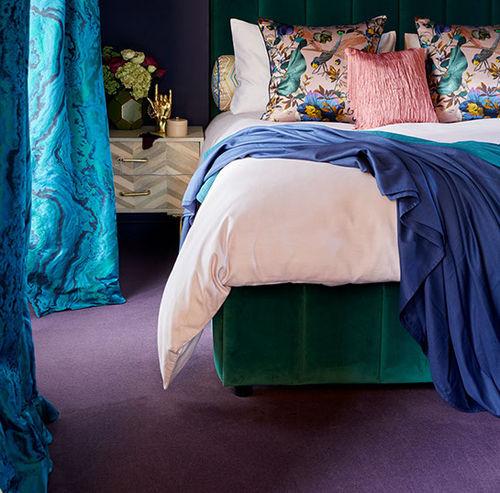 moquette tissée / en velours / en laine / résidentielle