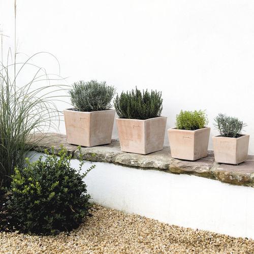 pot de jardin en terracotta / carré / rectangulaire