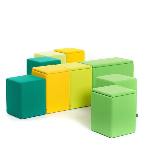 pouf design Pop / en tissu / modulable / avec rangement