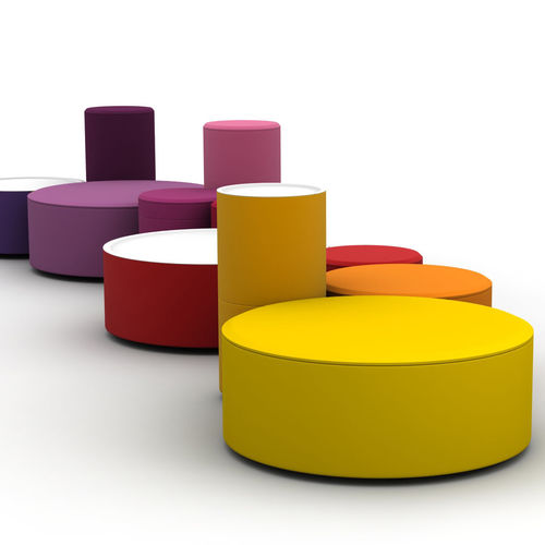 pouf design Pop / en tissu / rond / modulable