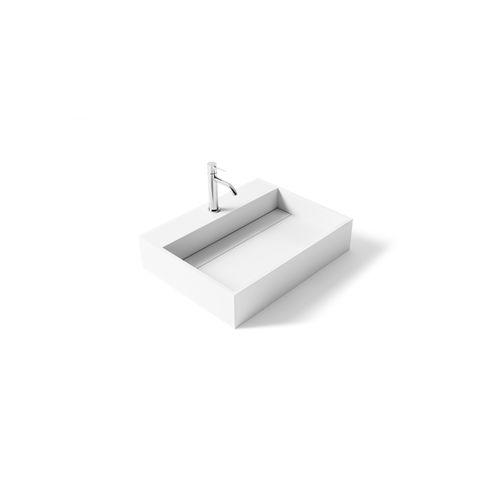 vasque à poser / rectangulaire / en Solid Surface / en fonte minérale