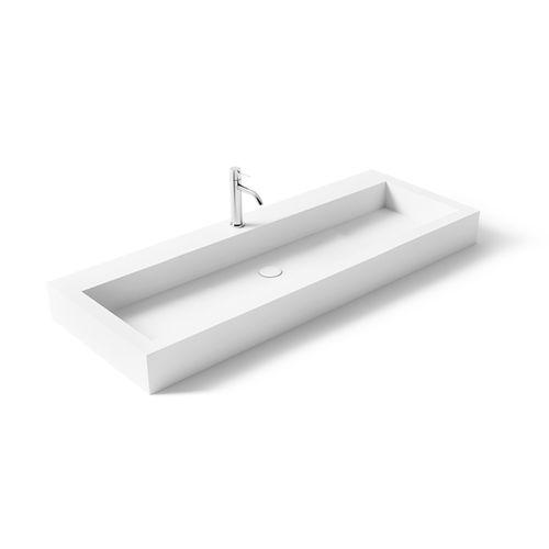 vasque suspendue / rectangulaire / en Solid Surface / en résine