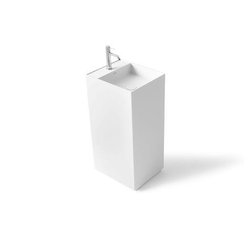vasque sur pied / rectangulaire / en Solid Surface / en résine