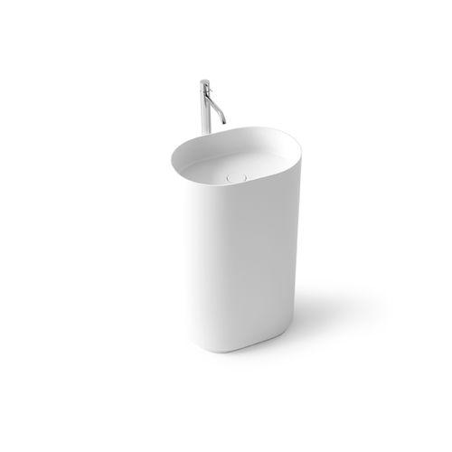 vasque sur pied / ovale / en Solid Surface / en fonte minérale